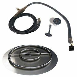 Stainless Steel Fire Pit Natural Gas Pan-ring Kit Size 30 H X 30 W X 2 D