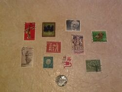 Unc Rare Usa Occupied Germany 10p 1948 Mint F Coin Stamp East And West German Lot