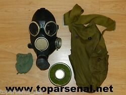 Russian Soviet Army vintage gas mask GP-7 mask filter bag