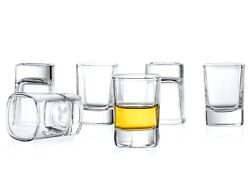 JoyJolt Shot Glasses Set of 6 2 Oz Heavy Base Dishwasher Safe Shot Glasses $16.99