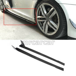 Side Skirts Extension Protector Trim Bodykits For Audi R8 08-15 Carbon Fiber