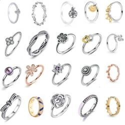 925 Sterling Silver Stackable New Foral Ring For Charm Bracelet Rings Christmas