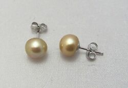 Honora New Freshwater Cultured Pearl Stud Earrings Sterling Silver 925 Mocha