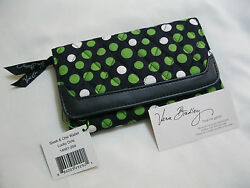 Vera Bradley LUCKY DOTS SLEEK AND CHIC Wallet COIN CASE Clutch 4 PURSE Tote  NWT
