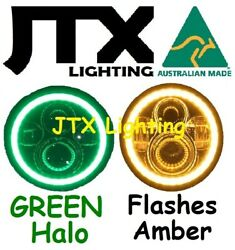 1pr Jtx 7 Led Headlights Flashes Amber When Turning Land Rover Series 1 2 2a 3