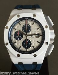 AUDEMARS PIGUET ROYAL OAK OFFSHORE 44MM WHITE CERAMIC BOUTIQUE ONLY DISCONTINUED