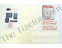 D-6015862 20 Piece Mylar Workmaster Decal Set Ford 601 Series 1958 - 1962 641