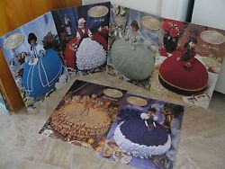 Annies' Attic Crochet Patterns For Bed Doll Gowns 1997 Collection