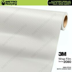 3m 2080 Series White Carbon Fiber Vinyl Vehicle Car Wrap Film Sheet Roll Cfs10