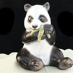 Panda Bear Figurine Herend Hungary Light Brown And Grey 5.5 New Never Sold