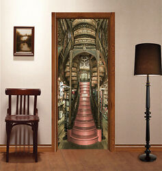 3d Library Stairs Door Wall Mural Photo Wall Sticker Decal Wall Aj Wallpaper Au
