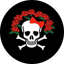 Skull and Roses Tire Cover ALL SIZES Fits camperstrailers RV's Jeep JL Camera