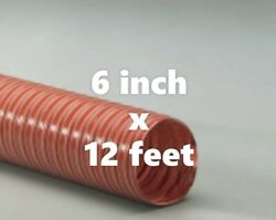 6 Inch I.d. Heat Flex Gs Red 2 Ply Silicone Coated Fiberglass Ducting Hose 12ft