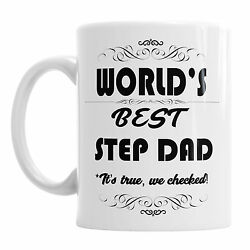 Worlds Best Step Dad It's True We Checked Father's Day Birthday Coffee Mug