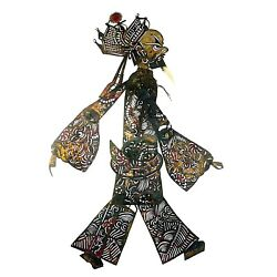 1306 Antique Leather Puppet China. Early Qing Dinasty. Xian
