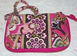 Vera Bradley Carry It All Wristlet Women Phone Card Holder in Very Berry Paisley