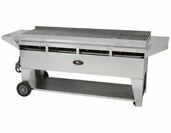 Lazy Man Model A4 Elite Gourmet Series Natural Gas Stainless Steel Mobile Grill