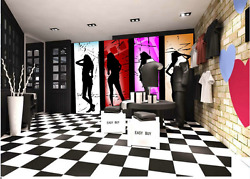 3d Female Dancing Reflection Paper Wall Print Wall Decal Wall Deco Indoor Murals