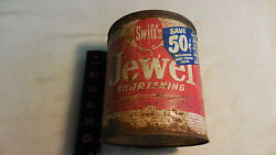 Vintage Swift's Jewel Shortening Tin Can 3 Pounds--full Can