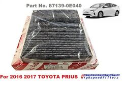 Toyota Oem Genuine Charcoal Cabin Air Filter 871390e040 Fit New Prius And Prime