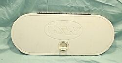 2009 Key West Stern Live Well White Access Hatch Cover 21.5 X 8.5 Fast Ship
