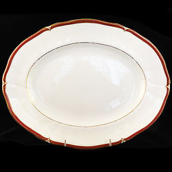 Wedgwood Empress Ruby Platter 14 Long New Never Used Made In England Bone China