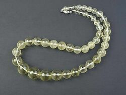 Lybia Glass Necklace 44 Light Yellow Spheres 7.5-19.3mm - 107.38g Certif108