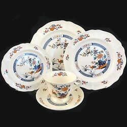 Chinese Teal By Wedgwood Etruria Barlston 5 Piece Place Setting New Never Used