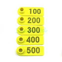 500pcs Ear Tag Plastic Livestock Tag For Goat Sheep Pig Cow Number 1-500