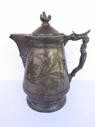Antique Silver-plate Coffee Pitcher Hall Elton Co. Wallingford Ct...pre 1890