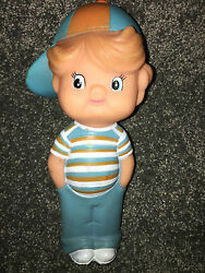 I'm A Gerber Kid 1985 Vinyl Squeaker Toy Squeeze Boy Vintage Doll Advertising Ad
