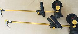 Pair 2 Seahorse Downriggers With Swivel Bases And Dual Rod Holders 4 Ft Booms