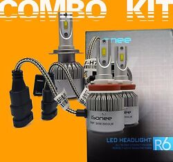 TS R6 F - Series 3800 Lms 36W Xenon Bright White LED Kit H7 and H11 Bulbs