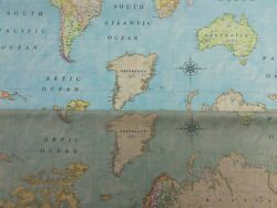 Teflon Maps Coated Washable Stain Resistant Tablecloth Table Covering