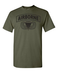 Airborne Hardcore  Paratrooper Jump Wings 82nd 101st Men's Tee Shirt 1617