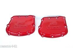 Avco Lycoming Engine T10-540 - Rocker Valve Cover Pair Oem Red Powder Coat