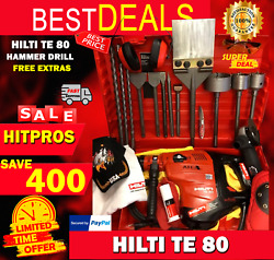 Hilti Te 80 Hammer Drill Free Angle Grinder Bits Chisels Extras Fast Ship