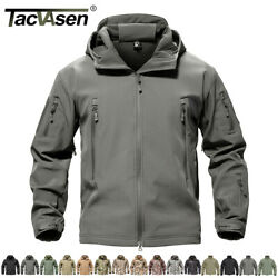TACVASEN Waterproof Tactical Soft Shell Men Jacket Coat Army Windbreaker Outdoor $43.99