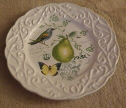 Mikasa Antique Countryside Pear Salad Appetizer Plate 9605321 New