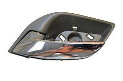 Interior Inner Inside Door Handle Gray Housing With Chrome Lever Driver Side