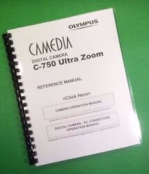 Laser 8.5x11 Olympus C-750 Camera Ultra Zoom Camera 238 Page Owners Manual