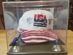 1992 Dream Team Magic Johnson Autographed Hat Including Pen Used To Sign