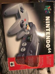 Nintendo 64 Minty In Original Box With And Paper Work And Plastic Primo Clean