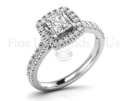 1.00 Carat Round And Princes Brilliant Cut Diamonds Engagement Ring In 9kgold