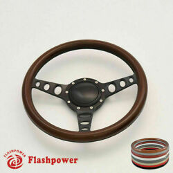 14 Billet Steering Wheel Wood Full Wrap Gm Buick Cadillac With Horn Button