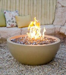 36 Fire Bowl In Black Lava Finish With Aweis System - Natural Gas