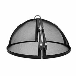25 Welded High Grade Carbon Steel Hinged Round Fire Pit Safety Screen