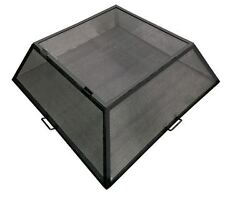 32 X 32 Square Hybrid Steel Fire Pit Screen With Hinged Access Door