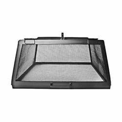 34 X 34 Square 304 Stainless Fire Pit Screen With Hinged Access Door