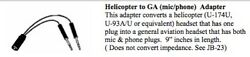 Helicopter To Ga Mic/phone Adapter